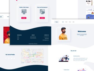 Portfolio Web Design New Version design web ui ux branding webdesign