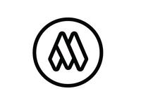 M logo sticker