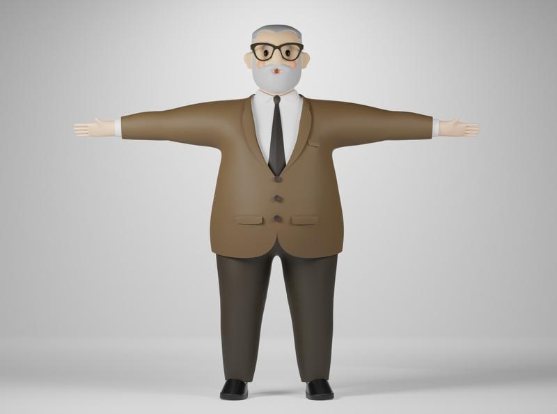 Boss blender3d cartoon character 3d