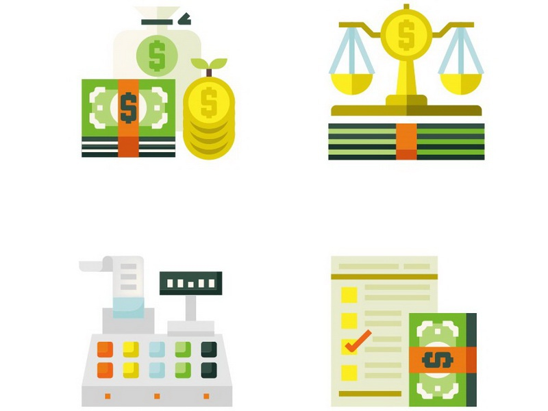Accounting Flat Icons banknote cashier cash money icon flat accounting