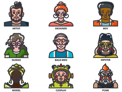 Avatar Icons person peoples illustration icon avatar avatar icons