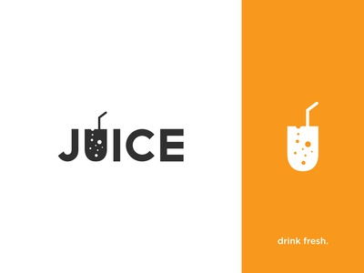 Juice Typography Logo
