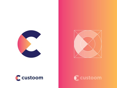 Custoom Logo | C Letter Logo custoom website typography c c letter monogram modern logo mark c logo creative colorful geometric symbol icon logo designer logodesign c lettermark gradient design concept app branding and identity alphabet