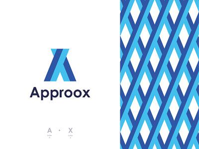 Approox Logo Design website ax letter creative logo logomaker logo designer approox x ax modern logo geometric consulting abstract a cross minimal icon branding identity app logo alphabet