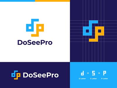 DoSeePro Logo Design Concept ds wordmark monogram dp dps dp letter logo website symbol smart logo logotype logo grid logo designer logo identity corporate clean branding agency branding brand identity app icon