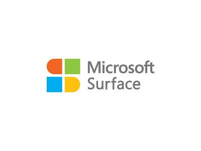 Microsoft Surface smart negative space icon colorful s letter logo s logo s agency computer technology windows surface microsoft creativity logodesign logo idea concept brand identity