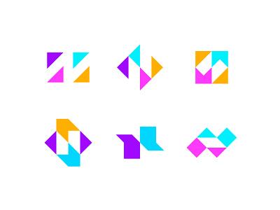 Letter N exploration arrow symbol icon apps typography letter n logo lettermark exploration logo mark logo maker n logo n colors colorful smart design logo designer logo design logo identity design brand identity branding