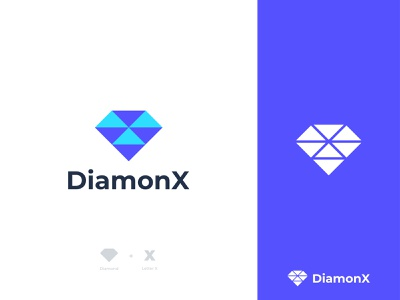 DiamonX - Diamondd Logo diamond logo wordmark jewelery diamond x x diamond diamond mark symbol icon smart logomark logo designer logo design logo modern minimal identity branding application app