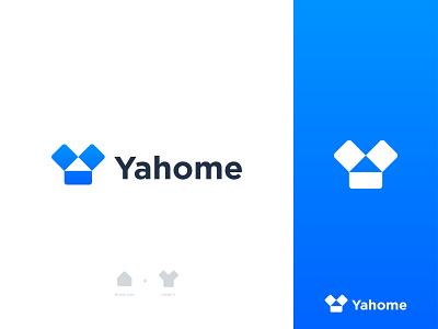YaHome Logo Design y house symbol smart logo logotype branding agency logo designer logo design y home y logo house home gradient mark logo icon exploration concept brand identity branding brand