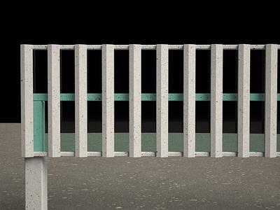 Vertical Louvers; Concrete agfa rni films brise soleil louvers plastic glass concrete maquette architecture