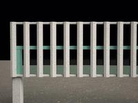 Vertical Louvers; Concrete