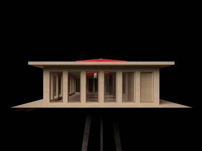 Maquette; Classroom education wood architecture maquette