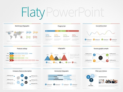 Flaty PowerPoint Template by iDny - Dribbble