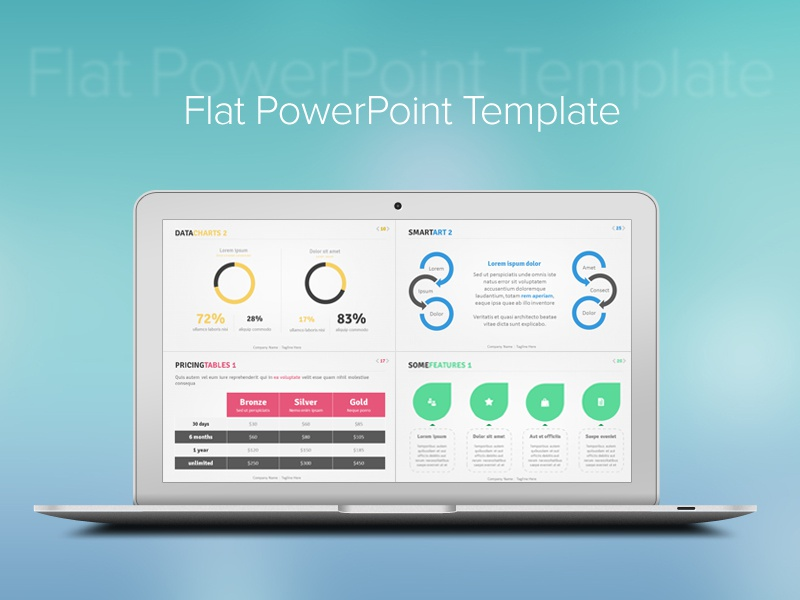 Flat design powerpoint template upgrade your presentation with flat flat powerpoint template by idny dribbble flat design powerpoint template toneelgroepblik Images