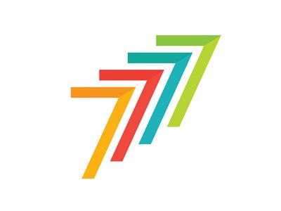 7 Logo #2 branding identity type lettering typography 7 logo design illustration flat arrow
