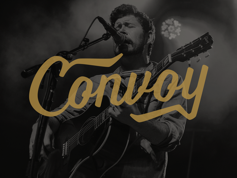 Convoy Creative rock country shane smith and the saints shane smith branding logo web design songwriter musicians bands band convoy
