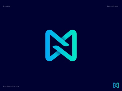 M/N Logo Concept n letter business lettering technology vector illustration abstract concept creative logo design logo letter m isometric identity gradient geometric diagram branding app icon 3d