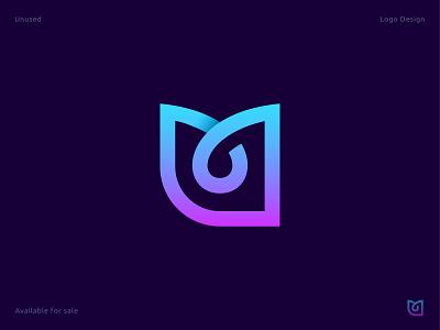 Letter m - app logo colorful gradient business technology tech unused 3d app icon minimal mark custom letter letter logo m vector creative illustration logo design abstract branding logo