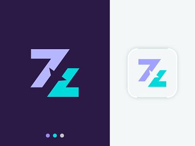 7z - letter logo airplane business designer letter mark arrow travel agency minimal flat mark booking lettering app icon app logo letter logo creative branding abstract logo design logo letter z