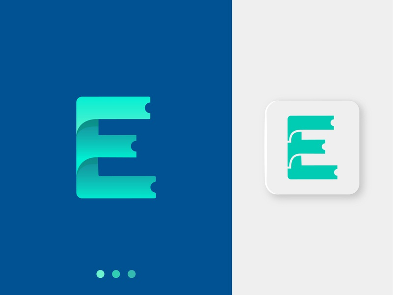 E letter - Ticket booking logo concept logotype business logo logo designer lettering letter e booking ticket app logo app icon brand identity 3d gradient mark letter logo creative logo design abstract branding logo