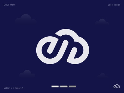 E letter + Cloud logo app logo design creative hosting minimal flat business solution strategy letter e software tech logo logodesign digital data cloud logo cloud server branding abstract