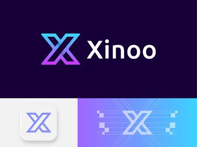Xinoo - logo design logos design brand design icon app 3d logotype logodaily logodesign creative app logo vector illustration gradient letter x letter logo branding logo logo design abstract