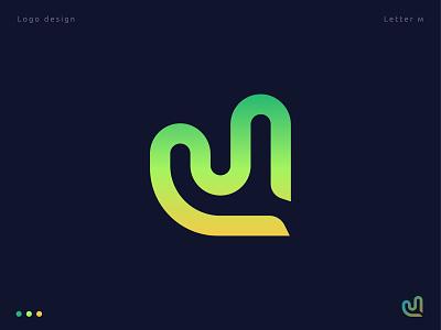 M letter Monogram logotype creative logo design logo abstract branding letter logo illustration vector letter m modern gradient letter lettermark monogram symbol logo mark