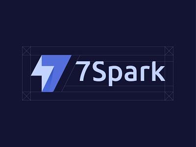 7Spark brand guide clean monogram creative illustration seven letter logo minimal logotype modern logo logo design branding abstract spark mark sign