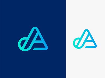 DA letter logo vector mark gradient illustration creative letter a letter logo logo design abstract branding logo