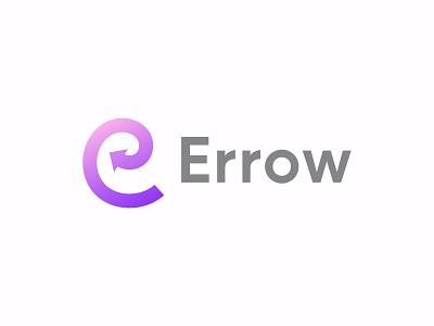 ➡️Errow logo design clean symbol monogram logotype branding modern app icon letter mark letter e illustration creative letter logo design gradient logo abstract arrow