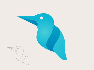 Bird logo wave birds vector illustration abstract creative logo logo design logos logo bird branding brand identity branding design gradient bird logo bird icon bird illustration humming bird simple kingfisher