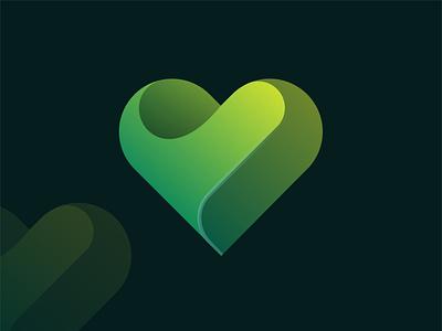 Natural Heart symbol geometric design dating app love heart natural simple illustration creative abstract logo design branding logo