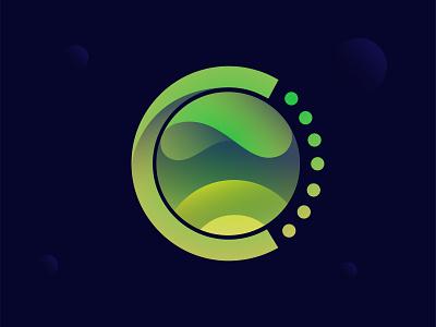 Chronus minimal clean logo simple modern logo gradient colorful logo designer design illustration creative abstract branding logo design logo earth wave
