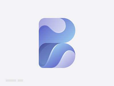 Letter B best logo vector abstract trendy logo modern logo gradient cute logo clean cool wave letter b o p q r s t u v w x y z a b c d e f g h i j k l m n letter logo illustration creative logo design branding logo