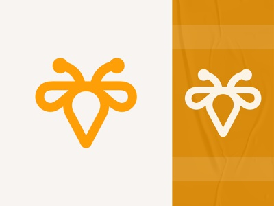 Bee logo mark business logo minimalist clean logo identity logo design logo minimal flat abstract geometric creative symbol app icon logo lettering logotype design mark monogram modern logo