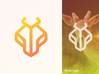Deer logo flat logo agency logo designer tech brand concept minimalist minimal line art modern logo design illustration abstract creative logo design branding deer cute logo animal wolf logo