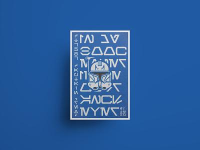 Captain Rex Poster clone clone trooper print poster series typography texture starwars minimal flat illustration design
