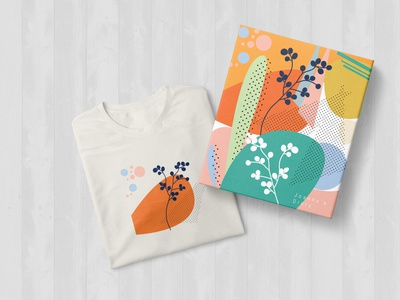 Flower Pattern Diary and Tshirt Illustration tshirt color palette pattern a day colors palette colorswatch colorscheme colors pattern art pattern design flower illustration thirtylogos diary pattern flower