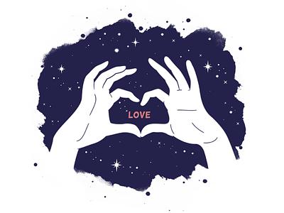 LOVE ink photoshop illustrator illustrations illustration