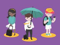 Gomedia Travelers illustration