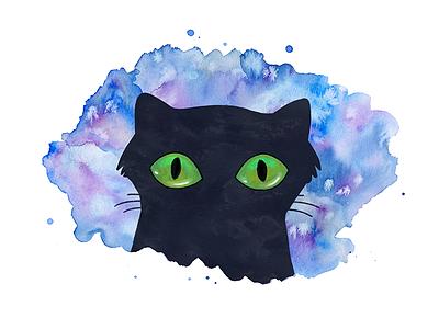Cats Eyes ipad pro watercolor kids illustration children book kids book photoshop procreate drawing illustration