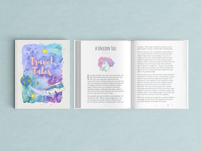 Travel Tales book ipad pro watercolor kids illustration children book kids book cover book photoshop procreate drawing illustration