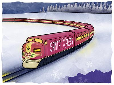 GoMedia Christmas campaign (image 1) illustration email christmas photoshop procreate digital art