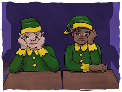 GoMedia Christmas campaign (image 2) digital art character elves elf illustration email christmas photoshop procreate