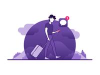 Traveller vector illustrator digital art digital illustration