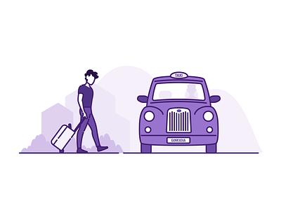 Cab vector illustrator illustration art digital