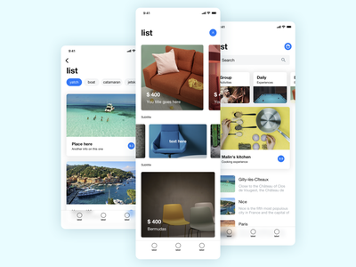 UI kit exploration user interface design cards ux ui app ios uikit