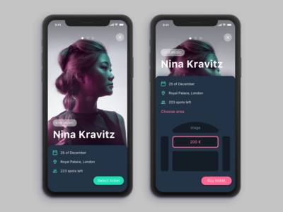 Concert and tickets UI