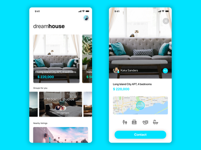 Real estate app real estate pisos flats house realestate userexperience cards ux ui ios app