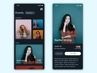 Event discover app cards events user interface design ux ios ui app